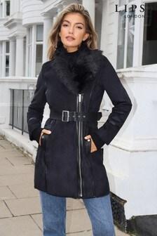 Lipsy Bonded Faux Fur Trim Jacket