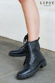 Lipsy Leather Biker Boot