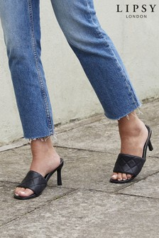 Lipsy Quilted Heeled Mule