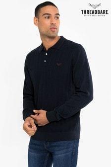 Threadbare Knitted Polo Jumper