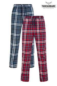 Threadbare Two Pack Check Pant Loungewear Set