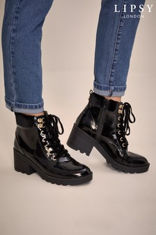 Lipsy Girl Heeled Lace Up Boot