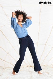 Simply Be Kim High Waist Bootcut Jeans