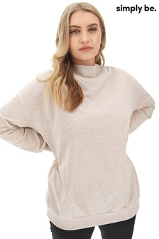 Simply Be High Neck Sweat Top
