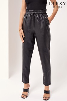 Lipsy Faux Leather Jogger