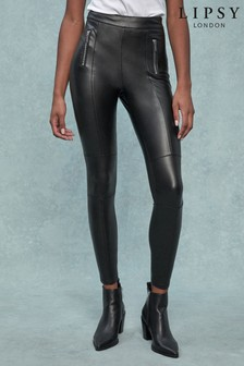Lipsy Faux Leather Biker Legging