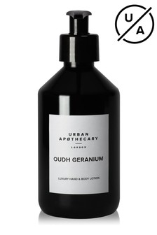 Urban Apothecary Oudh Geranium Luxury Hand & Body Lotion 300ml
