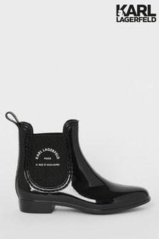 Karl Lagerfeld Kalosh II Maison Ankle Rain Boot
