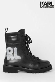 Karl Lagerfeld Kadet II High Lace Leather Boot