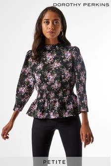 Dorothy Perkins Petite Shirred Peplum Top