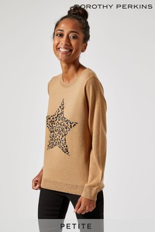 Dorothy Perkins Petite Animal Star Jumper