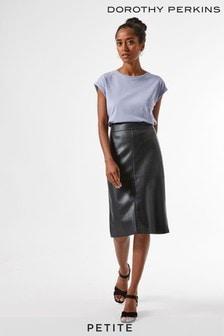 Dorothy Perkins Petite PU Midi Skirt