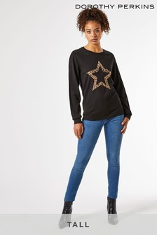 Dorothy Perkins Tall Animal Star Jumper
