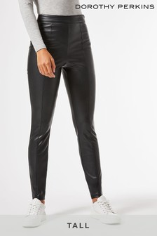Dorothy Perkins Tall PU Trousers