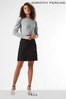 Dorothy Perkins Tall PU Trim Mini Skirt