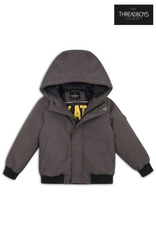 Threadboys Hooded Zip Through Jacket