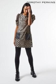 Dorothy Perkins Leopard Print Pocket Tunic
