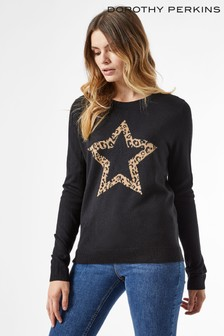 Dorothy Perkins Animal Star Print Jumper