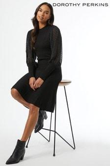 Dorothy Perkins Dobby Sleeve Dress