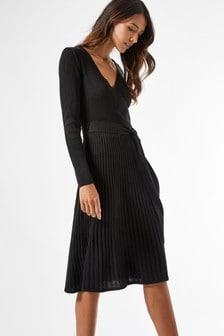 Dorothy Perkins Ribbed Wrap Dress