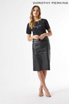 Dorothy Perkins PU Midi Skirt