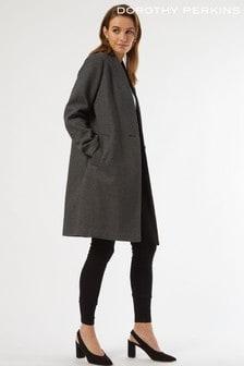 Dorothy Perkins Collarless Smart Coat