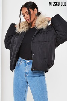 Missguided Ultimate Faux Fur Collar Padded Jacket