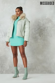 Missguided Ultimate Fur Collar Puffer Jacket