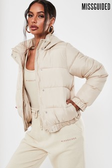 Missguided Hooded Padded Jacket
