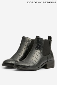 Dorothy Perkins Crocodile Chelsea Boot