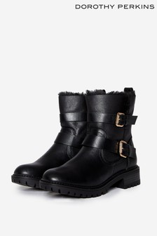 Dorothy Perkins Faux Fur Ankle Boots