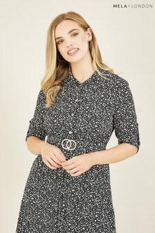 Mela Pebble Dash Pleated 'Freya' Skirt Dress