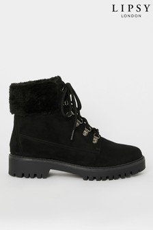 Lipsy  Faux Fur Lined Biker Boot