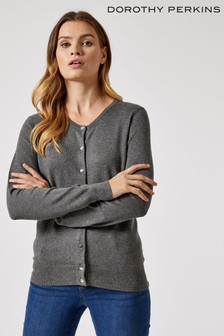 Dorothy Perkins Crew Neck Button Through Cardigan
