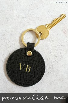 Personalised Leather Keyring By Koko Blossom