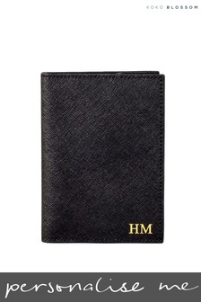 Personalised Leather Passport Cover By Koko Blossom