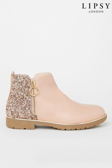 Lipsy Girl Zip Flat Ankle Boot