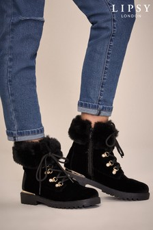 Lipsy Faux Fur Ankle Boot