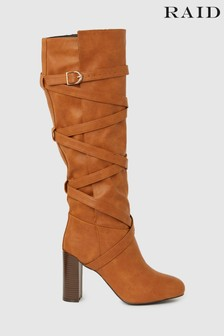 Raid Block Heeled Knee High Boot