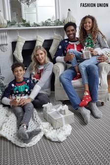 Fashion Union Girls Crew Neck Knit Christmas Jumper
