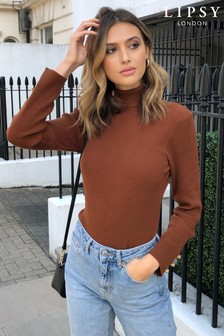 Lipsy Knitted Ribbed Roll Neck Jumper