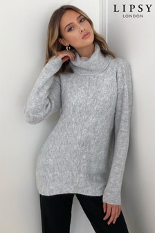 Lipsy Cowl Neck Cable Detail Jumper