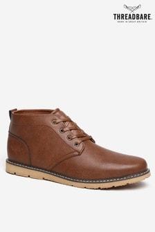 Threadbare Grained Leatherlook Chukka Boot