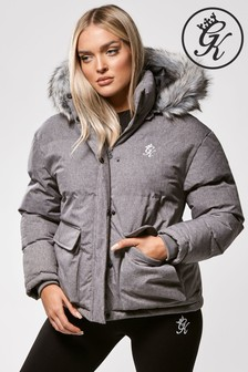 Gym King Faux Fur Quilted Parka