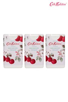 Cath Kidston Mini Cherry Sprig Hand Sanitiser 15ml Set of 3