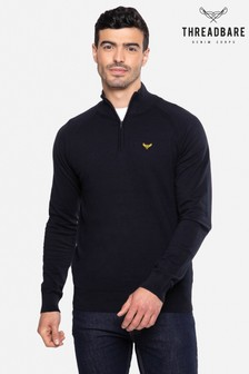 Threadbare Knitted Zip Neck Jumper