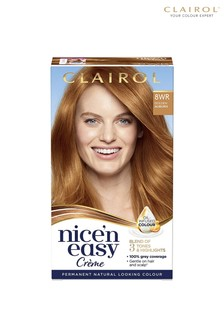 Clairol Nice' n Easy Crème, Natural Looking Oil Infused Permanent Hair Dye, 8WR Golden Auburn 177 ml