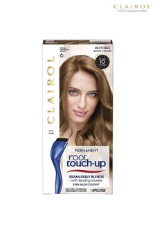 Clairol Root Touch-Up Permanent Hair Dye, 6 Light Brown, Long-lasting Intensifying Colour with Full Coverage and Easy Application, 30ml