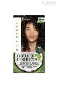 Clairol Natural Instincts Semi-Permanent No Ammonia Vegan Hair Dye, 4 Dark Brown, 177 ml
