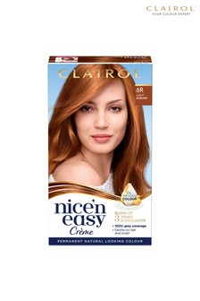 Clairol Nice' n Easy Crème, Natural Looking Oil Infused Permanent Hair Dye, 6R Light Auburn 177 ml
